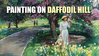Painting on Daffodil Hill