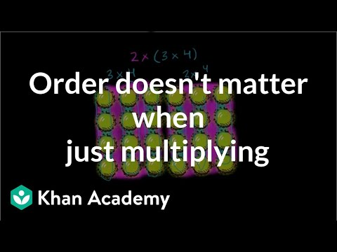 Order doesn't matter when purely multiplying | 3th grade | Khan Academy