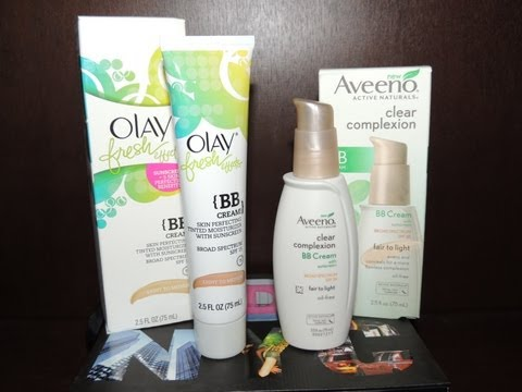 Olay Fresh Effects BB Cream vs Aveeno Clear Complexion BB Cream Review