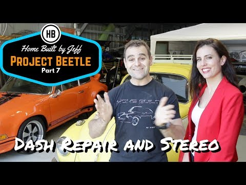 Dash repair and stereo install - Project Beetle