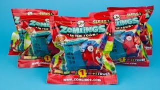 Five ZOMLINGS IN THE TOWN Mystery Packs Series 1