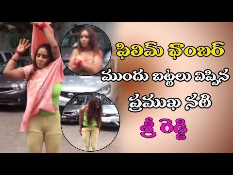 Sri reddy remove dress in public place|2018|telugu