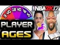 SPIN THE WHEEL OF PLAYER AGES! NBA 2K17 SQUAD BUILDER -