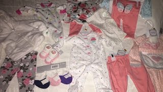 Baby Girl Clothing Haul , Carter's