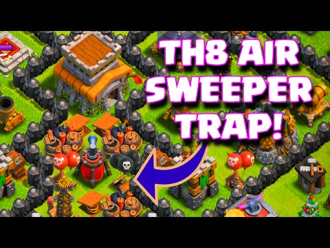 Clash Of Clans Townhall 8 Air Sweeper Base Layout TH8 Trophy And Farming Base Anti-Air