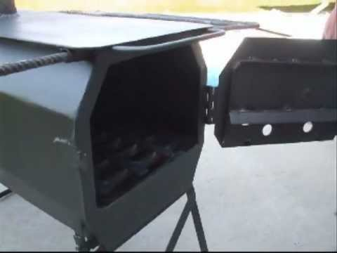 Homemade wall tent stove