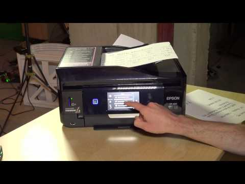 Epson Expression Premium XP-820 Wireless Photo Printer Review - Scanning & DVD / CD Printing Demo