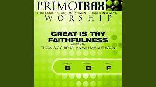 Great Is Thy Faithfulness Medium Key D Without Backing Vocals Performance Backing Track