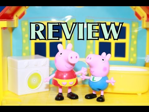 Peppa Pig Peek 'n Surprise Playhouse Peppa George Toy Review AllToyCollector