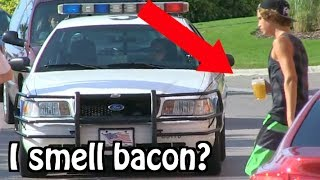 "Kids Drinking Beer PRANK ON COPS... ""I THINK I SMELL BACON"" 
