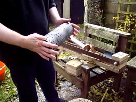Homemade fuel briquette press
