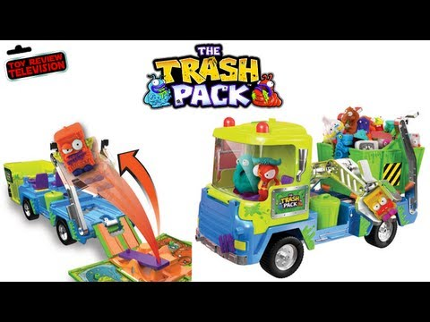 The Trash Pack Junk Truck Play Set Toy Review Unboxing