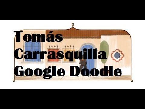 Tomás Carrasquilla Google Doodle - 156° aniversario