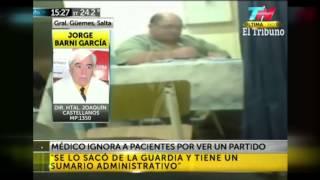 Tras el video de El Tribuno, apartaron de la guardia al médico de Güemes que no atendía a sus pacientes