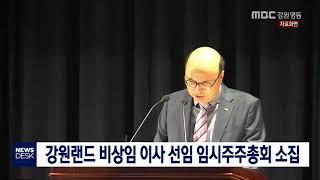 강원랜드 비상임이사 선임 임시주주총회 소집