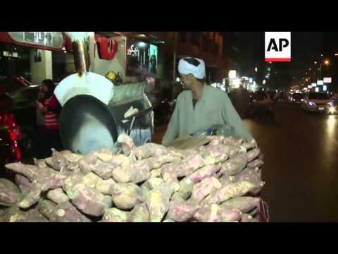 Egypt's sweet potato sellers struggle to make a profit