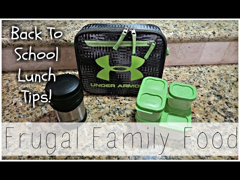 Frugal Family Food! Back To School Lunch Ideas!