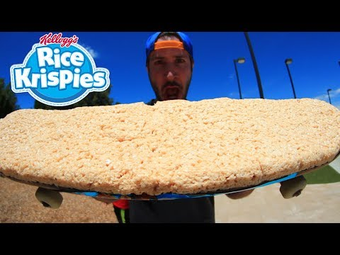 EDIBLE RICE KRISPIES SKATEBOARD!