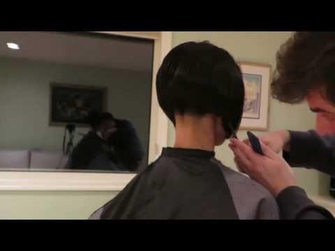 New Year Angled Bob Haircut and Buzzed Nape