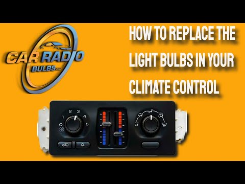 How to replace the light bulb in your climate controls