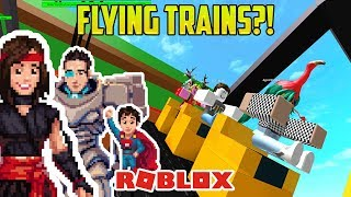 FLYING TOY TRAINS! FOR KIDS! (Roblox!)