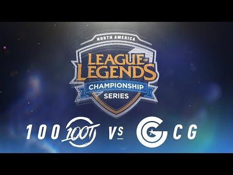 100 vs. CG - Week 9 Day 1 | NA LCS Spring Split | 100 Thieves vs. Clutch Gaming (2018)