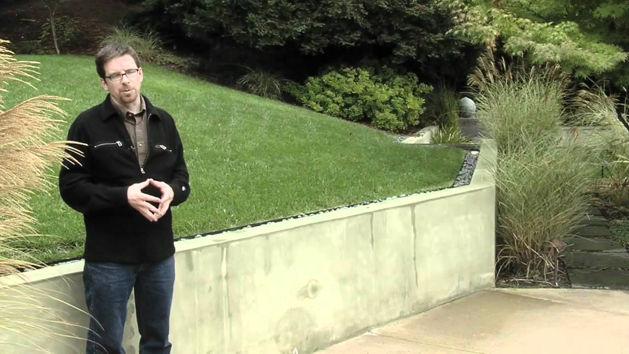 Retaining Wall Design Smooth Stucco Youtube