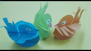 How to make Easy paper Birds - simple craft activity for kids|Mr.Paper crafts