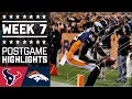 Texans vs. Broncos (Week 7) | Game Highlights | NFL