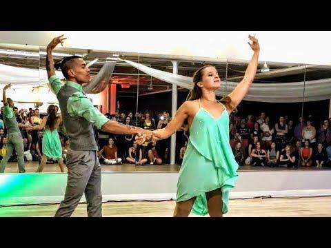 Davy Badian & Natalia Bonafin Brazilian Zouk Dance Performance in Chicago at Future Zouk