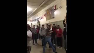 RAW: Amid Denver teacher strike, students dance at Denver East High School halls