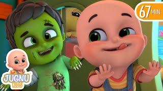 Haunted House & Halloween song for children   Finger Family   Nursery Rhymes from Jugnu kids
