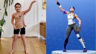 Fortnite dance CHALLENGE - Hela familjen dansar