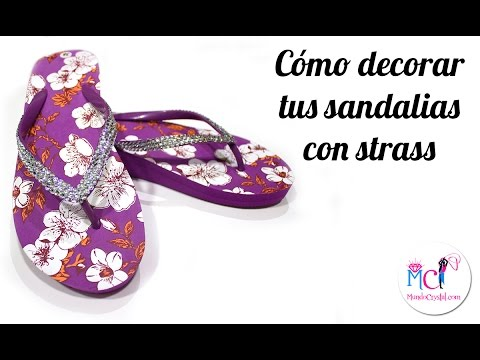 Sandalias con pedrería - Cómo decorarlas con Strass