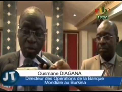 RTB/Société-Fin de mission du directeur des opérations de la Banque Mondiale au Burkina