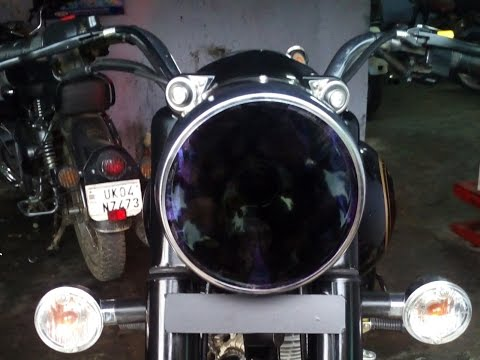 how to change headlight glass.    Royal Enfield standard 350cc