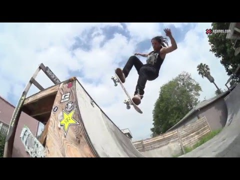 X Games Trick Tips -- David Gonzalez crail to fakie