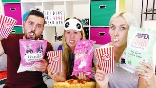 POPCORN CHALLENGE! Kaan vs. Nina vs. Kathi im Popcorn-Wahnsinn! Spiel mit mir Kinderspielzeuge