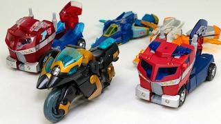 Transformers Animated Optimus Prime Samurai Prowl Jetfire+Jetstorm Safeguard Vehicle Robot Car Toys