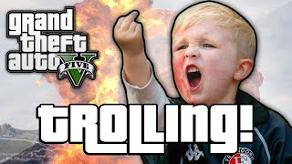TROLLING THE ANGRIEST KID EVER! (GTA 5 Trolling)