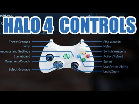 Halo 4 - ALL Controller Layouts - Bumper Jumper, Fishstick, and more!