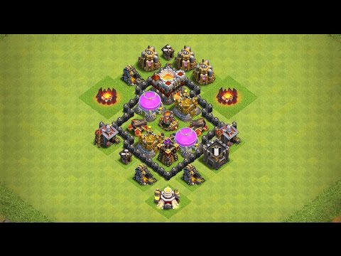 Undefeated Town Hall 3 (TH 3) Farming Base !! (Anti Storag) [ TH3 Defense ] - Clash Of Clans | 2017