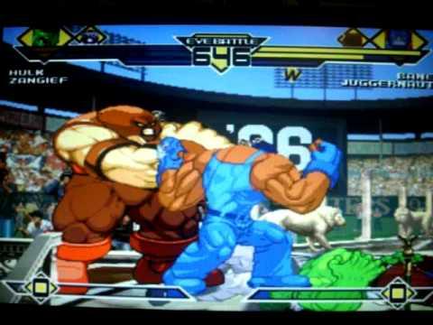 Mugen EVE Battle: Hulk And Zangief Vs Bane And Juggernaut ...