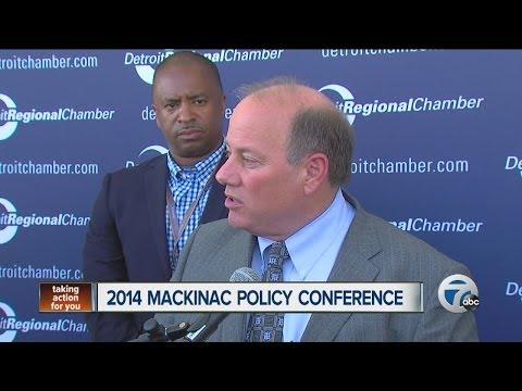 Mike Duggan at the Mackinac Conference