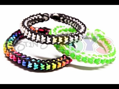 How to Make a Boxed Bow Bracelet - EASY design on the Rainbow Loom