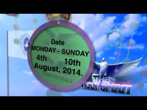 2014 convention promo. Theme: THE HOLYSPIRIT.