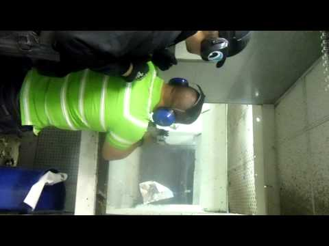 Shooting an UZI Fully Automatic