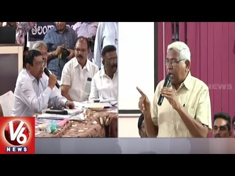 TJAC Conducts Round Table Meet On Kaleshwaram Lift Irrigation Project | Hyderabad | V6 News