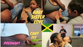 MY PREGNANT BELLY DONT FIT MY CLOTHES ANYMORE| LOVING ON BABY SISTER