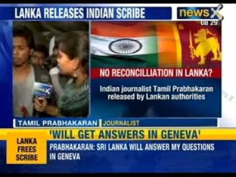 Indian Tamil jouranlist Prabhakaran released by Sri Lankan authorities - News X